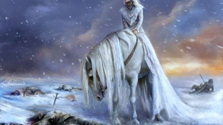 Ice Warrior Snow Horse Winter Fantasy Hd Wallpaper Character