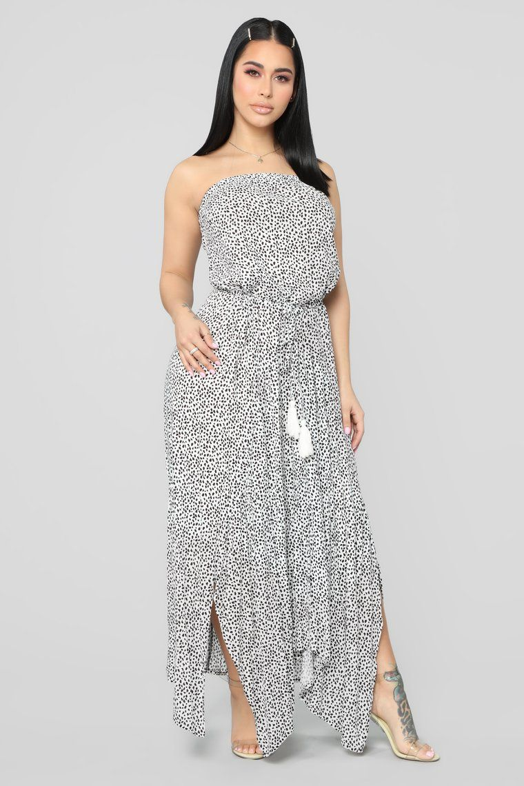 Dont have to worry tube maxi dress