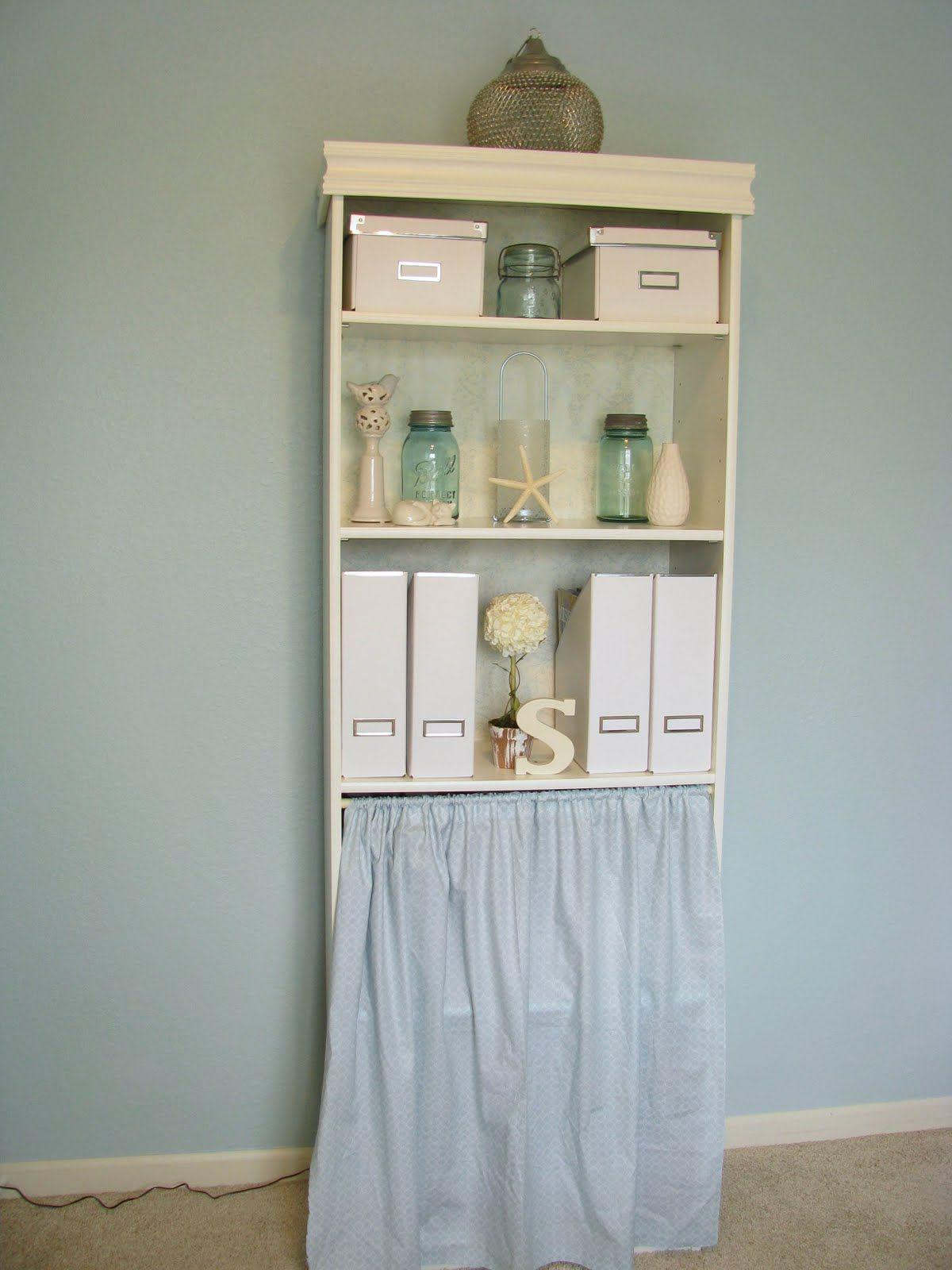 cheap laminate bookcase makeover idea sand prime paint add