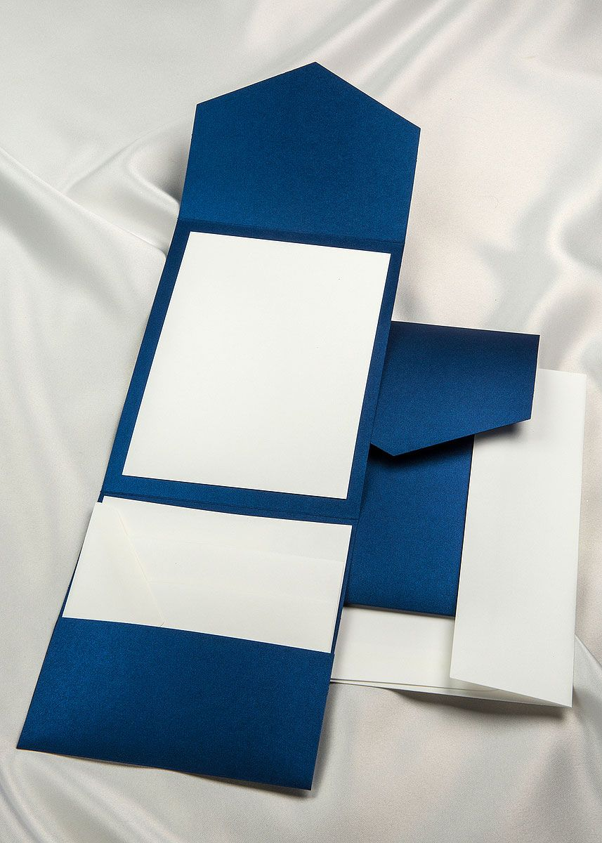 Create your own invitation using our royal blue elegance pocket ...