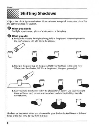 Shifting Shadows An Experiment Parents Scholastic Com Light Science Shadow Experiments First Grade Science