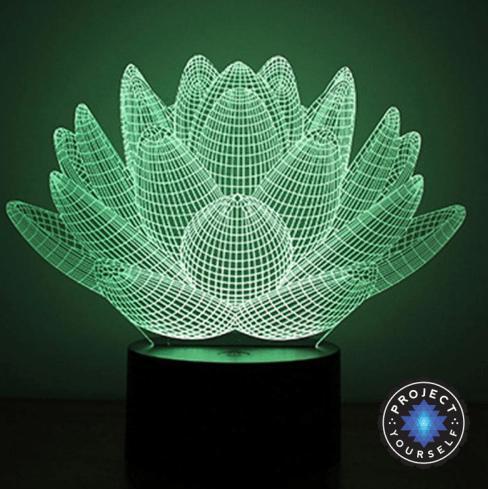 Lotus Flower Hologram Effect Lamp Hologram, Lotus plant