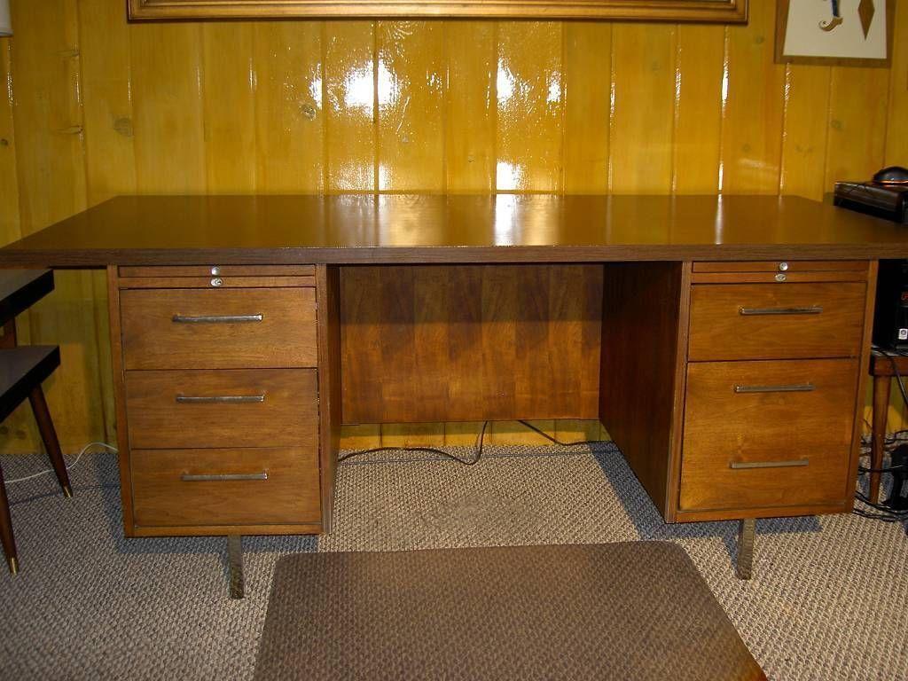 Credenza Dark Wood : Alma executive desk and credenza danish mid century walnut teak