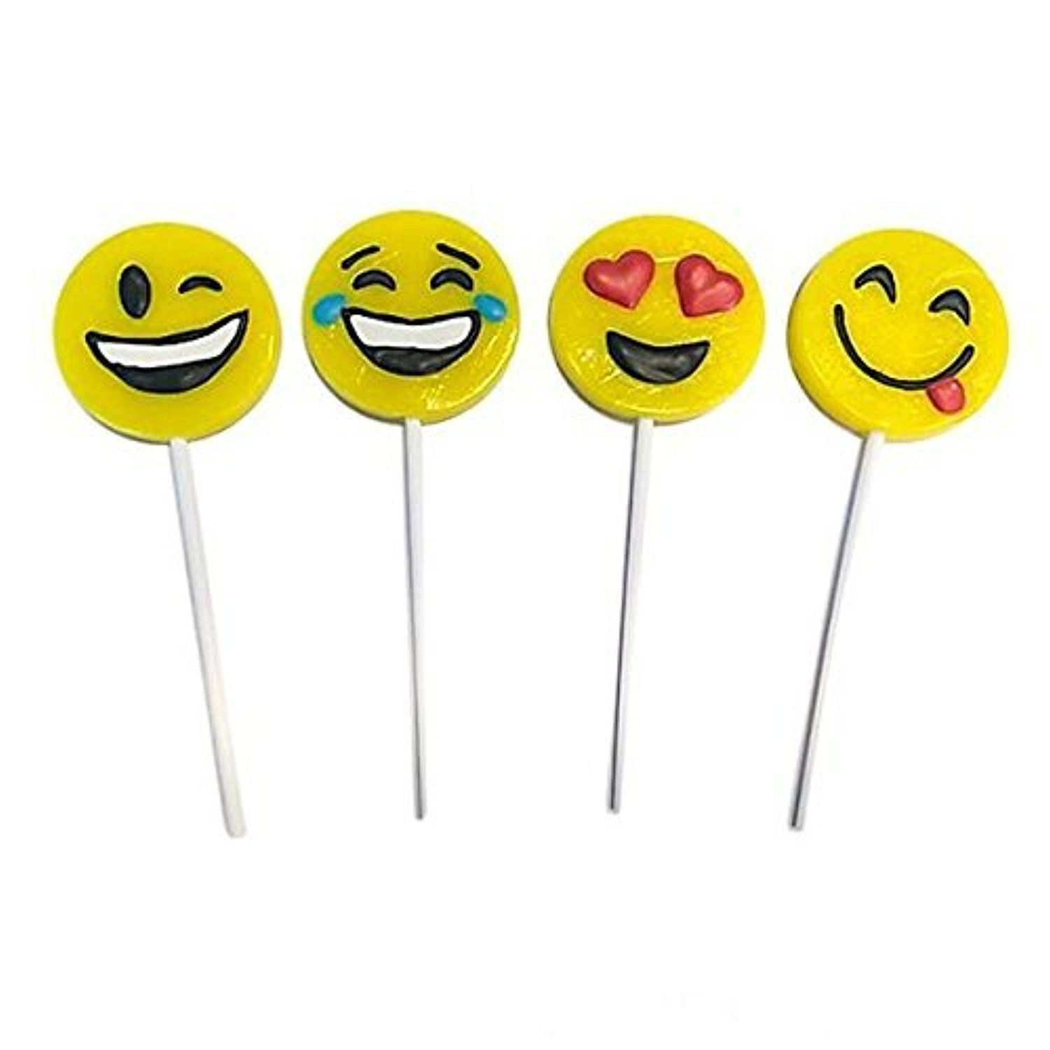 Yellow Emoji Smile Face Lollipop Sucker 1 Dozen By Rin Awesome Products Selected By Anna Churchill Emoji Lollipop Emoji Theme Party
