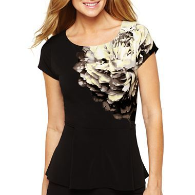 89349b1277c7f0 Worthington® Peplum Top - jcpenney $18 | My Style | Tops, Fashion, Women