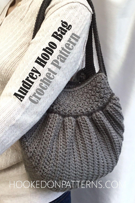Handbag Crochet Pattern - Audrey Hobo Bag #crochethandbags