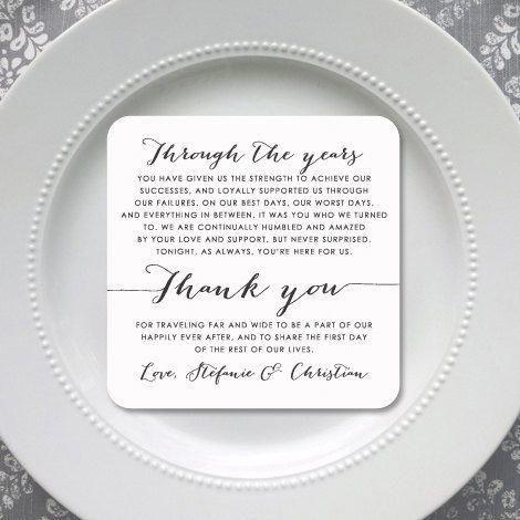 Wedding Thank You Card   Wedding Thank You Card   Thank You Card   Thank You - Style 10 - BOMBSHELL COLLECTION