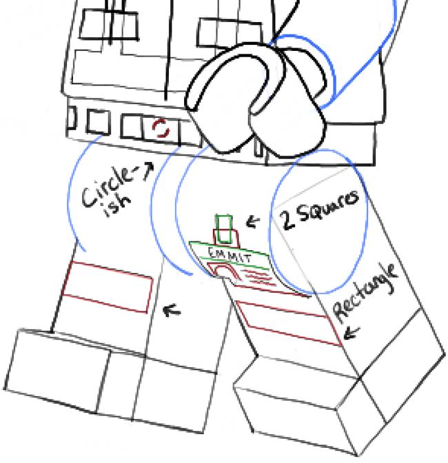 Emmet Lego Drawing