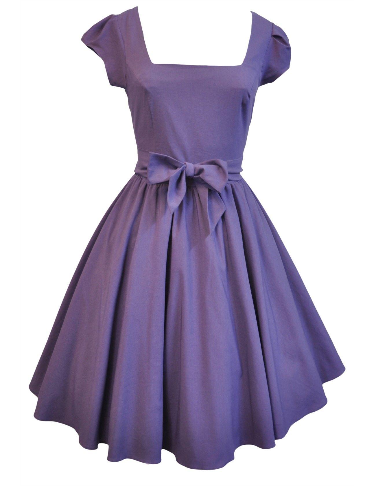 Lady V London Purple Swing Dress Dresses Swing Dress Vintage Swing Dress [ 1680 x 1300 Pixel ]