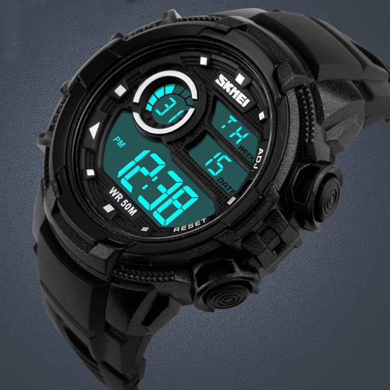 Watches Digital Watches Frugal Skmei Fashion Led Digital Watches Mens Military Sports Chronos Watch Men Dual Time Wristwatches Waterproof Relogio Masculino