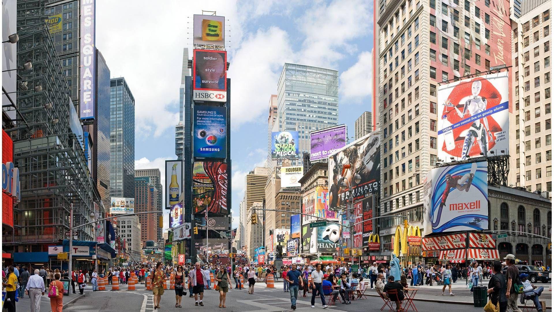 New York City 1920 1080 Wallpaper City Hd High Quality Pc New York City Shopping Times Square Times Square New York