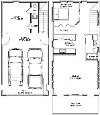 20x40 House 1 Bedroom 5 Bath 965 Sq Ft Pdf Floor Plan Model 6k