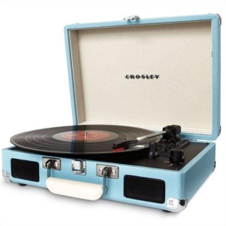 Crosley Cr8005d Tu Cruiser Portable Turntable Turquoise Walmart Com Portable Record Player Turntable Record Player Turntable