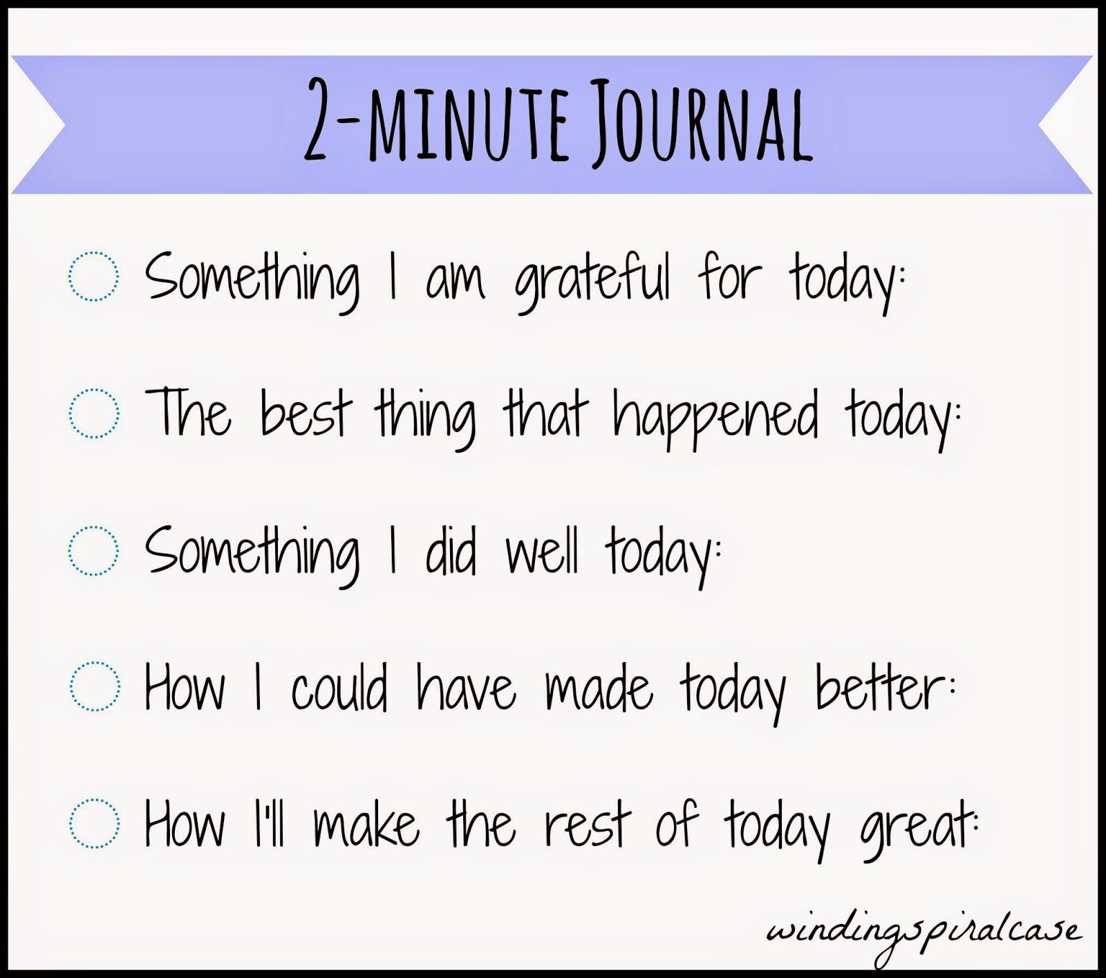 5 Minute Journal Diy