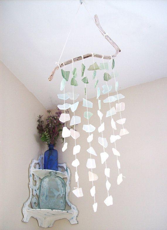 Sea Glass Driftwood Bohemian Decor