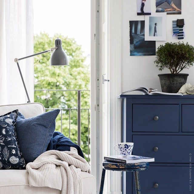 """Himlen och havets alla nyanser väcker känslor som får till och med gedigna klassikern #HEMNES att sväva. Om sommaren är kärleken blå!"" Photo taken by @ikeasverige on Instagram, pinned via the InstaPin iOS App! http://www.instapinapp.com (07/19/2015)"