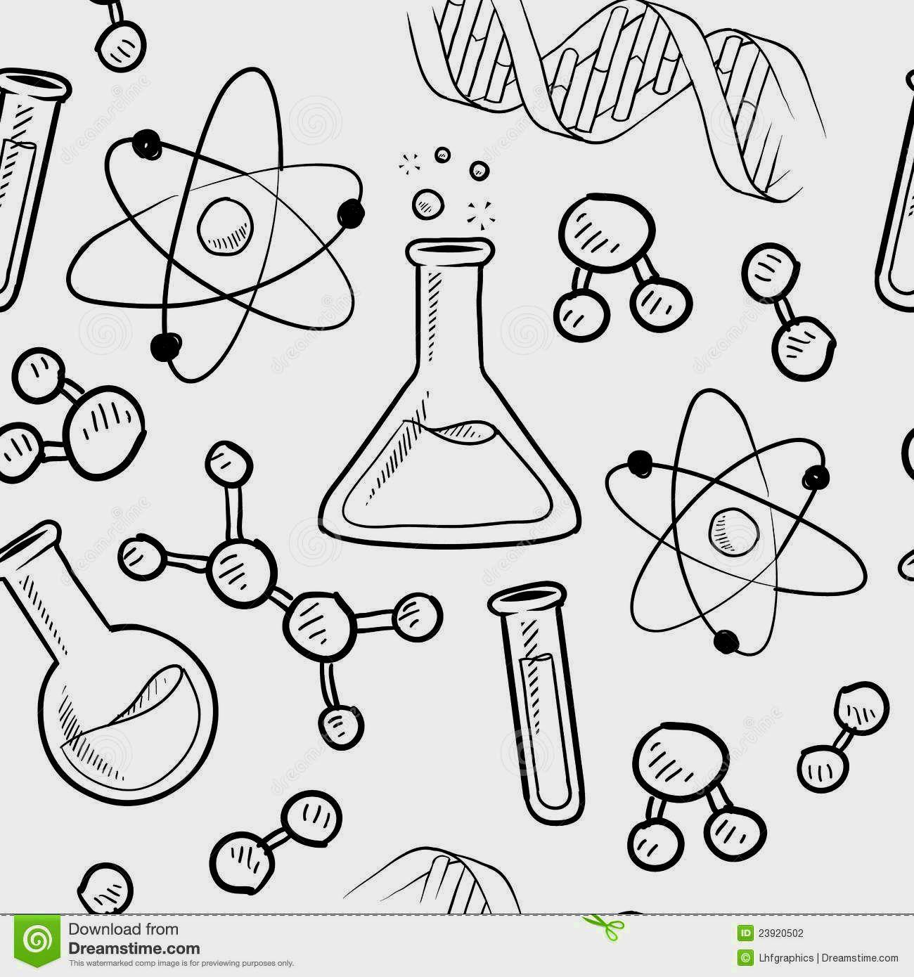 Science Coloring Pages Seni Doodle Ide Menggambar Dan Kimia