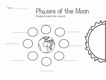 Moon Phases Worksheet Answers Fresh Earth Cycles Science