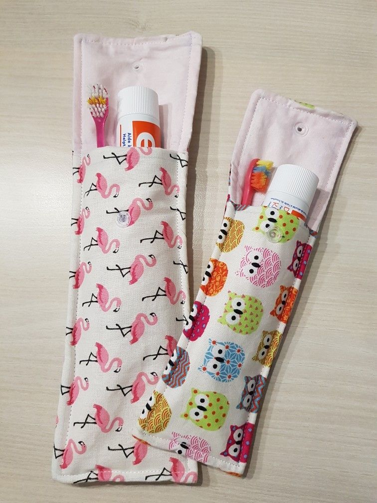 Pochette brosse à dents   – Sewing Crafts
