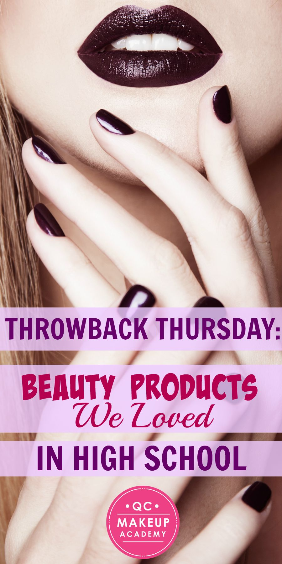 Back in high school, we thought that any product we could get our hands on was a winner, even when it wasn't! As a special #ThrowbackThursday treat, let's take a walk down memory lane and reminisce about the products we used to love! #QCMakeupAcademy #makeup #retromakeup #tbt #throwback #highschool #memories #makeupartist #makeupproducts #products #inspiration #makeupschool