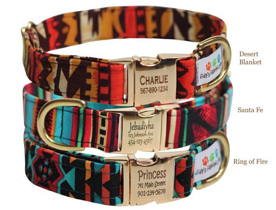 Personalized Aztec Dog Collar - Tribal 7c882a10941a0
