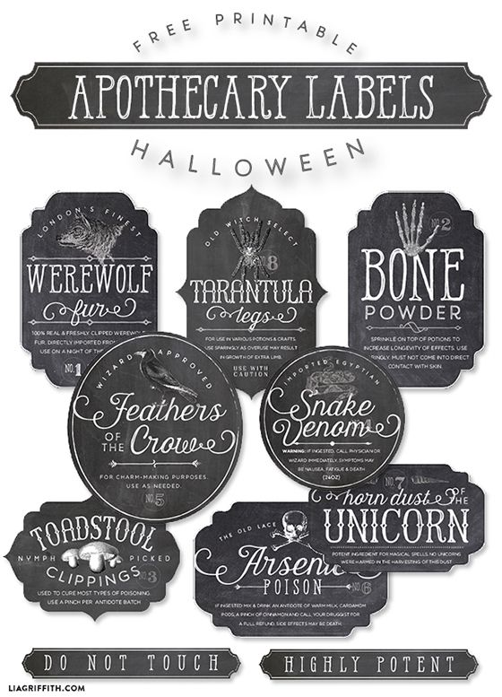 photograph relating to Free Printable Apothecary Labels identified as Printable Apothecary labels for Halloween Do it yourself Bathtub