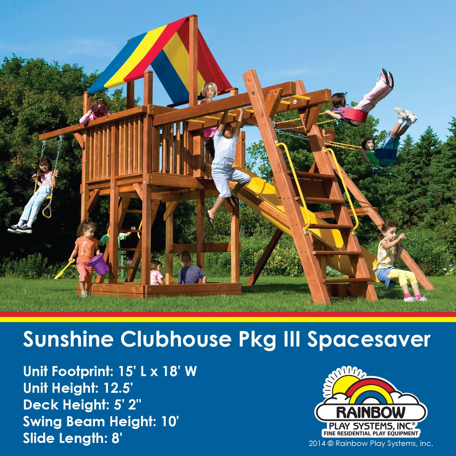 Sunshine Clubhouse Pkg III Spacesaver #swingsets