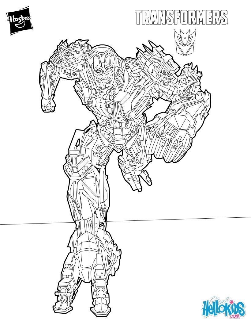 Ruthless bounty hunter from Transformers coloring page