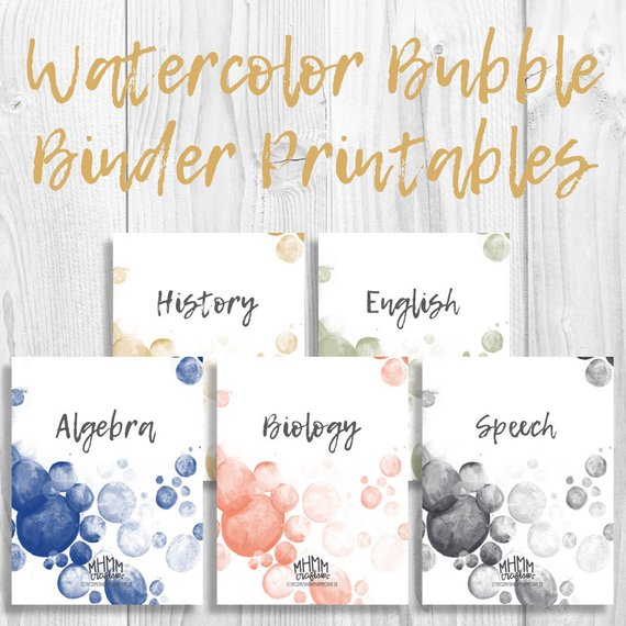 Set Of 5 Printable Binder Cover/Inserts W/ Spines