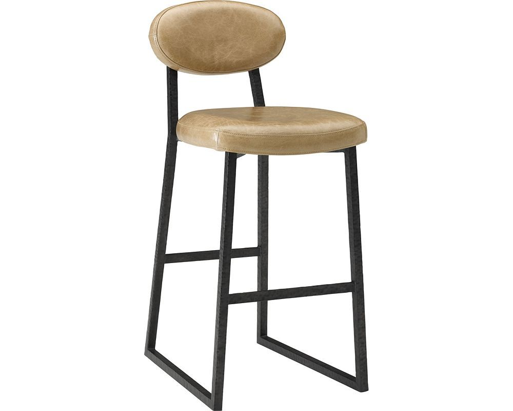Ed Ellen Degeneres Alhambra Metal And Leather Bar Stool Crafted By Thomasville Bar Stools Leather Bar Stools Leather Barstools