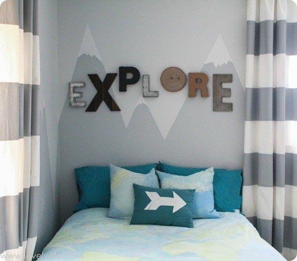 Kids Room Wall Design: Make A Mountain-themed Mural.