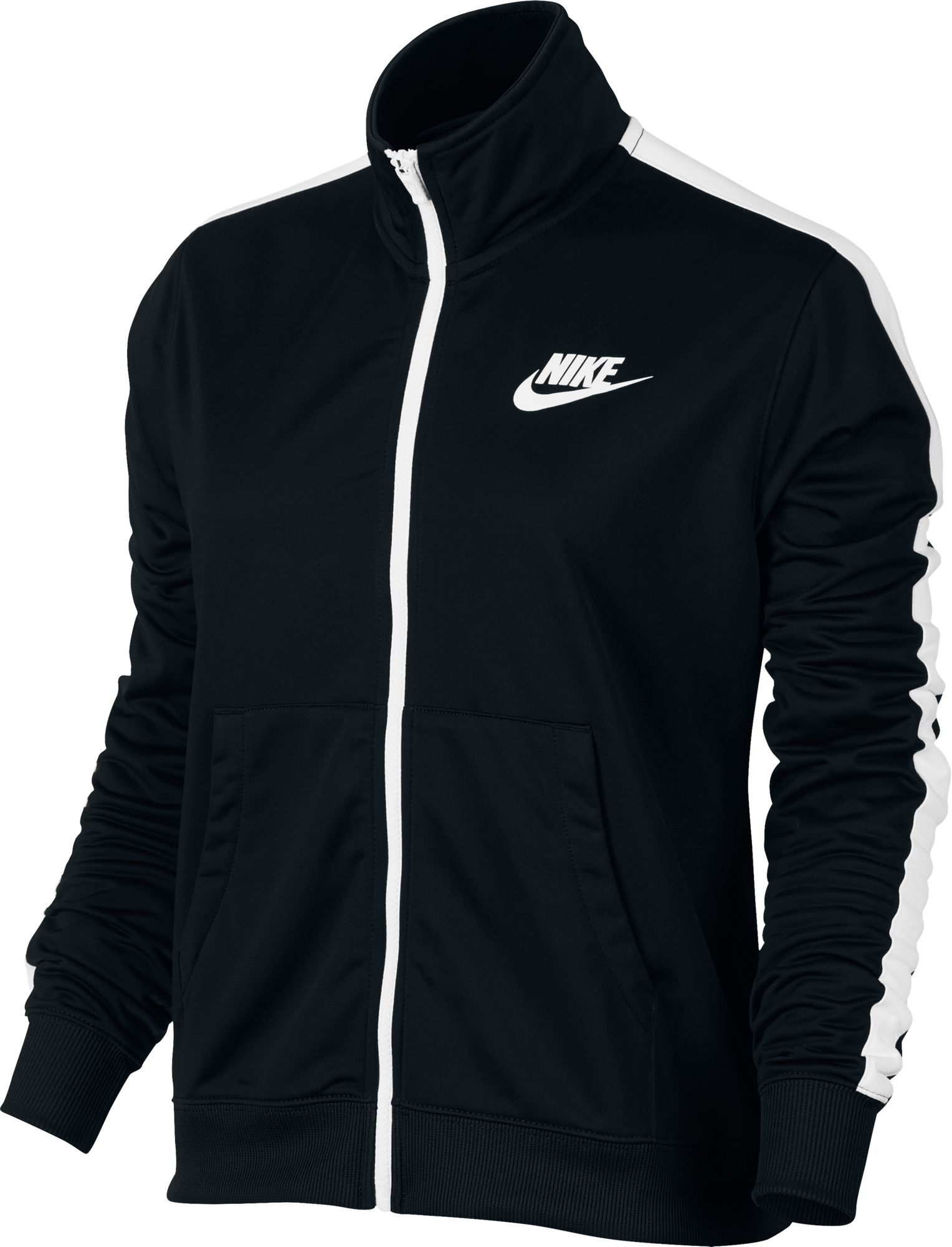 e1710a9d7 Nike Women's NSW Track Jacket (BLACK/WHITE, Size X Small) - Women's  Athletic Apparel, Women's Athletic Performance Tops at Academy Sports