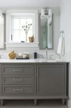 42 Ideas For Bath Room Tiles Black Grey Paint Colors Bath With Images Bathroom Furniture Vanity Trendy Bathroom Budget Bathroom Remodel