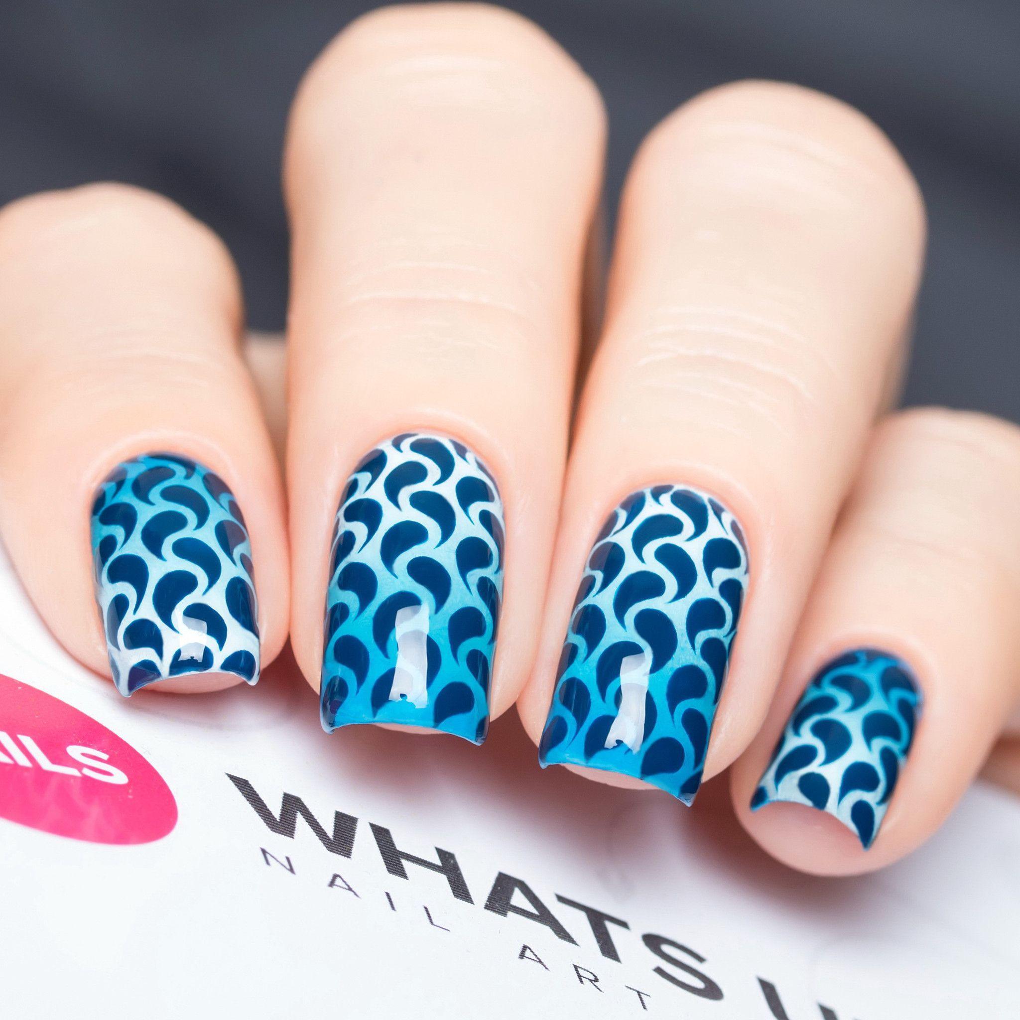 Whats Up Nails / Droplets Stickers & Stencils | Nails | Nail art ...
