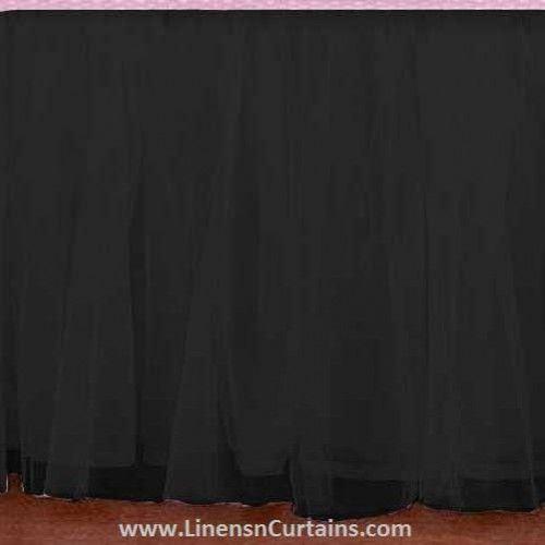 Adorable Tulle Black Ruffle Crib Skirt In All Sizes Drop Lengths Ruffle Crib Skirt Crib Skirts Tutu Crib Skirt