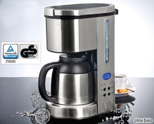 Kaffeemaschine Thermo-Kaffeeautomat mit 24-Std Timer Thermoskanne - silver crest küchenmaschine