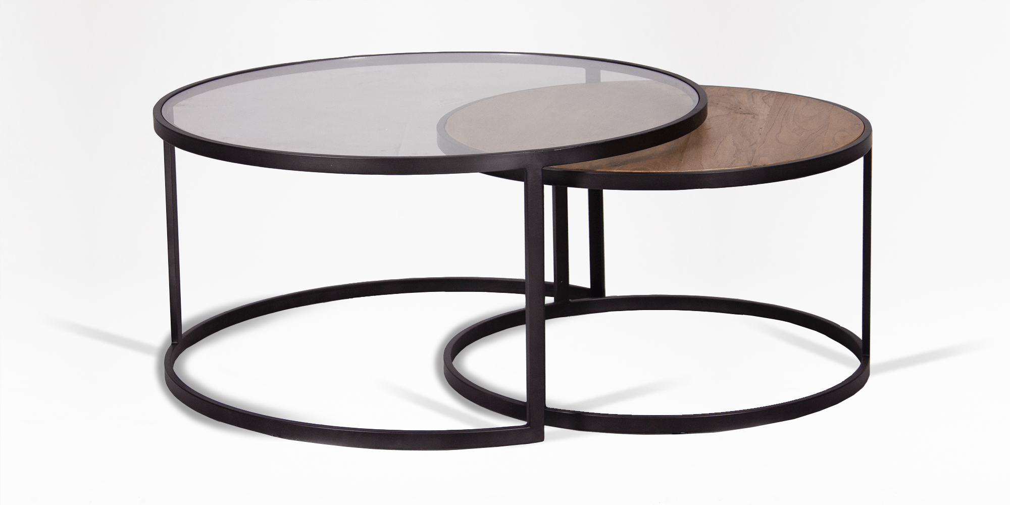 Heron Round Nest Of Tables Coffee Tables Living Room Living Room Coricraft Modern Glass Coffee Table Coffee Table Square Nesting Coffee Tables [ 1000 x 2000 Pixel ]