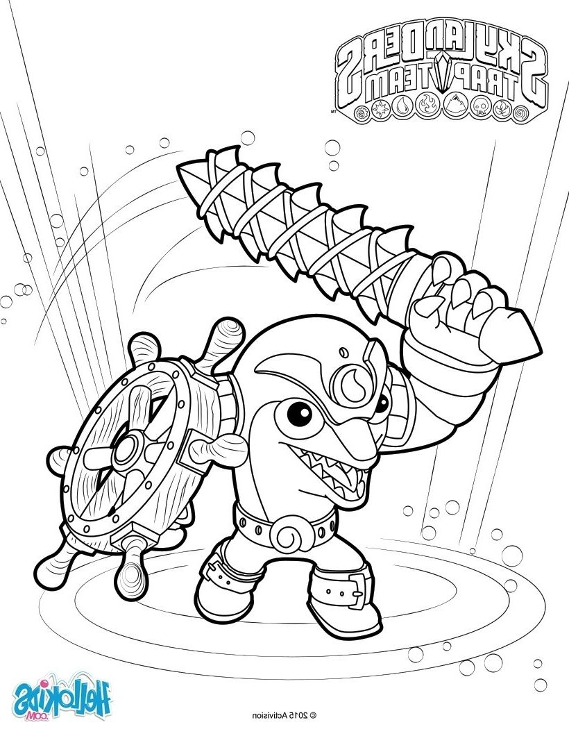 Skylander Coloring Pages To Print Coloring Pages Kids Printable