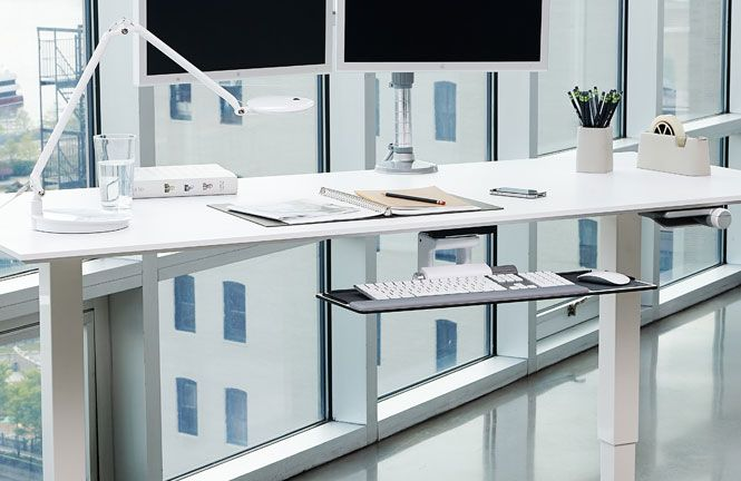 Float Humanscale S Height Adjustable Sit Stand Table Ergonomics Workplace Office