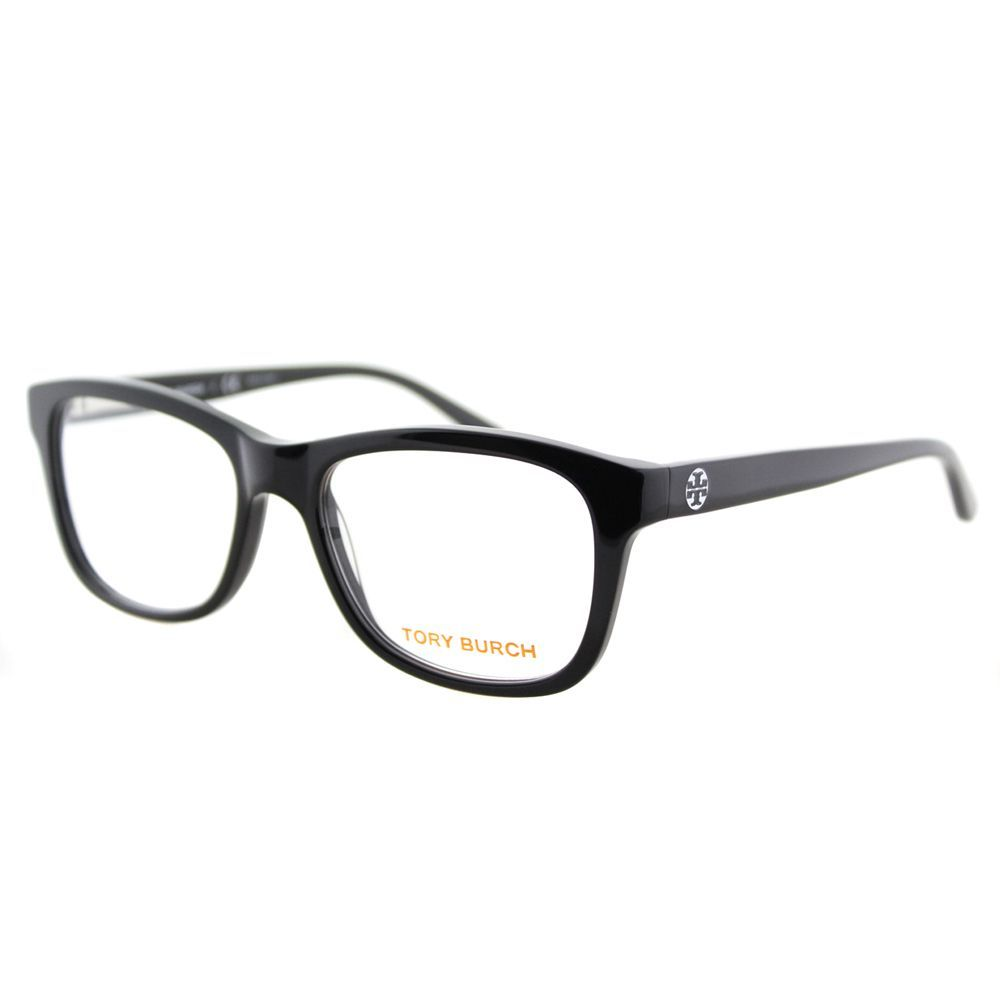 55f493b482 Upgrade your eyewear with these stylish and chic Tory Burch TY 2038 501  Black Plastic Rectangle 52mm Eyeglasses. These designer glasses showcase  black ...