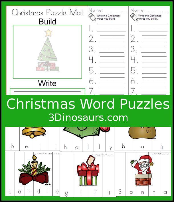 christmas themed words