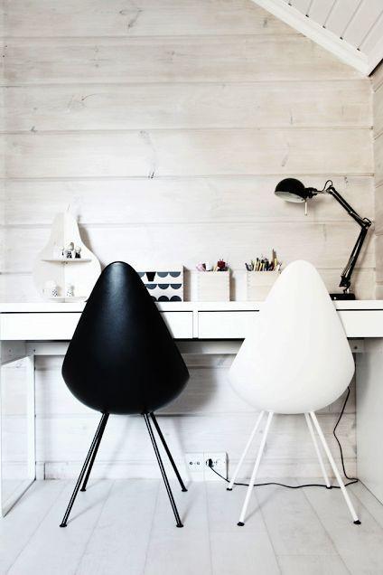 La silla drop para él y para ella en la oficina en casa. http://www.nordika.mx/silla-drop-plastico-negro.html