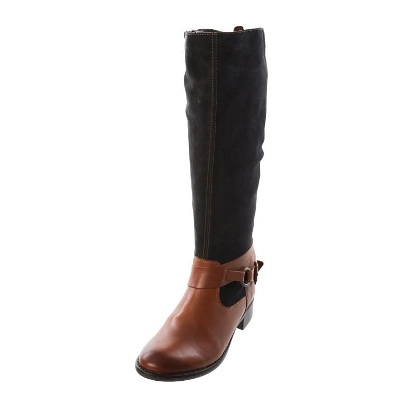4fe4c39598c89 Remonte R6471 23 Ladies Womens Brown Navy Combination Leather Boot - £97.00  - Top quality Remonte Dorndorf footwear from Barnets Shoes