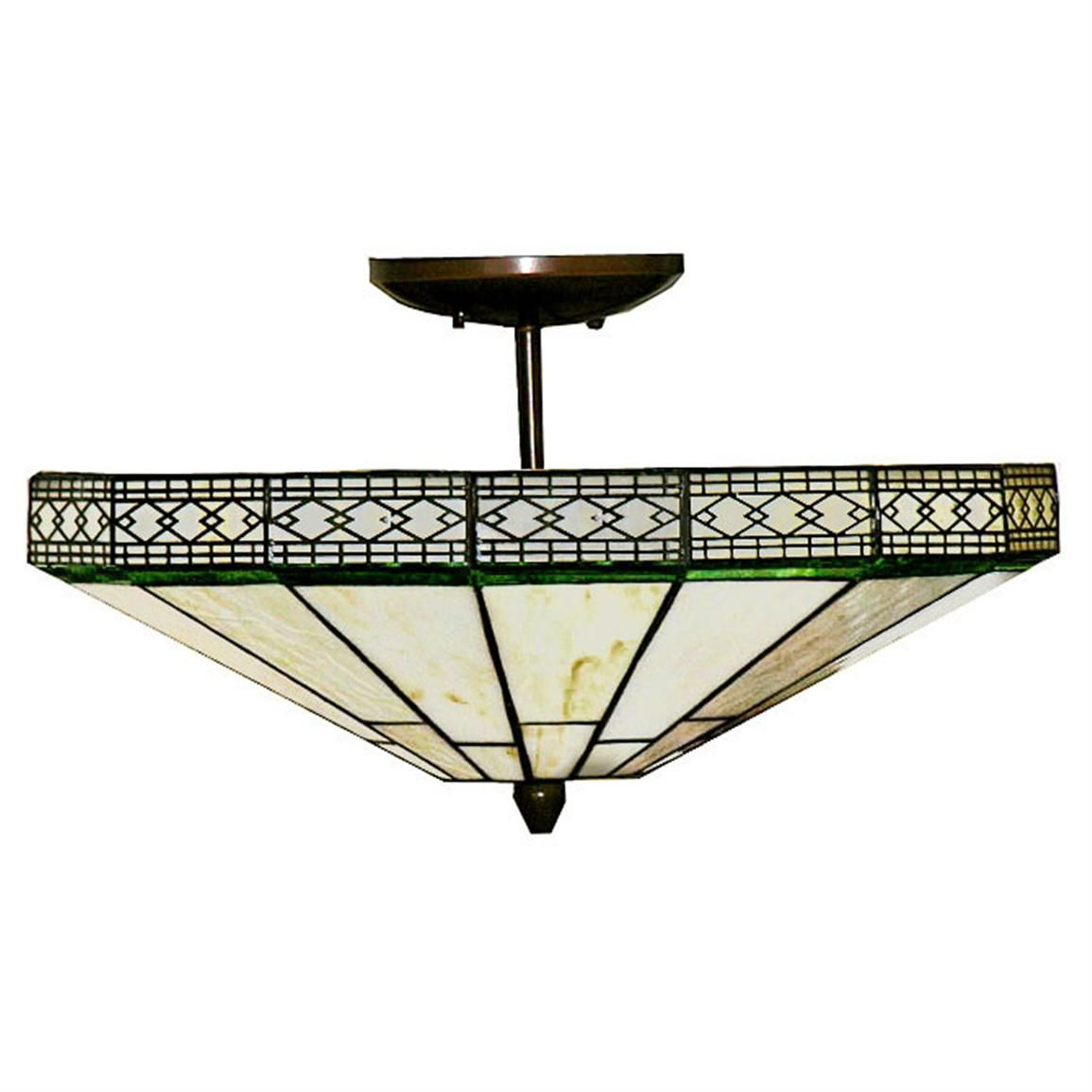 Tiffany style 2 light semi flush ceiling light dinning room tiffany style 2 light semi flush ceiling light 224765 lighting at sportsmans guide aloadofball Choice Image