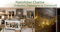 Weihnachtsbeleuchtung Trend: Natürlicher Charme - Erdfarben, Tannengrün & Cremeweiß