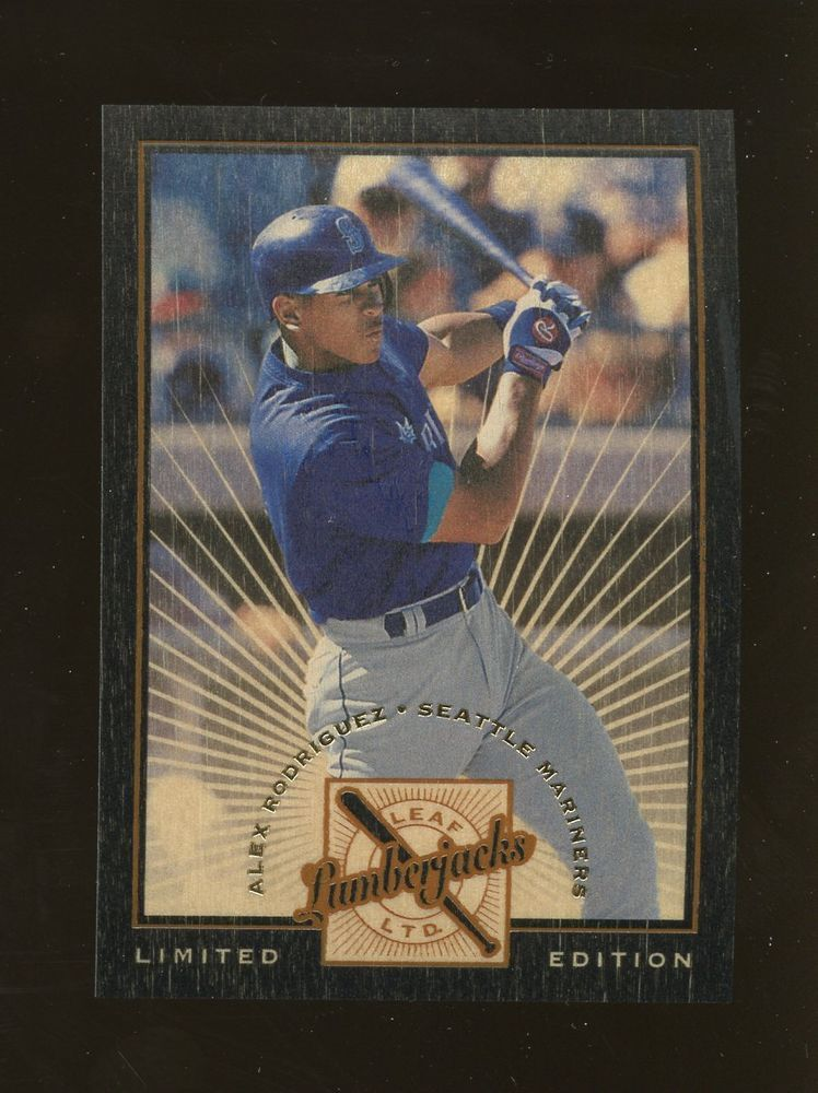 Alex Rodriguez 1996 Leaf Limited Lumberjacks Black Baseball