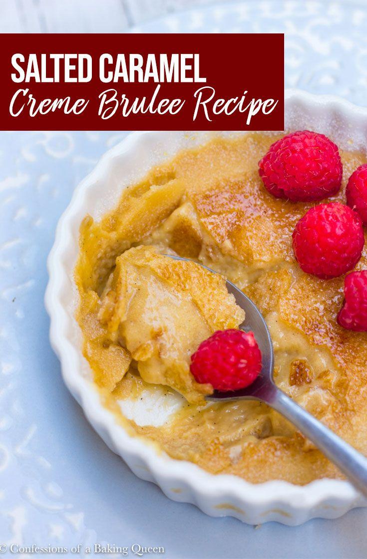Salted Caramel Creme Brulee #cremebrulée