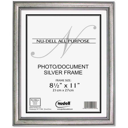 NuDell Antique Silver Finish Wood Frame, 8 1/2 x 11 | Walmart and ...