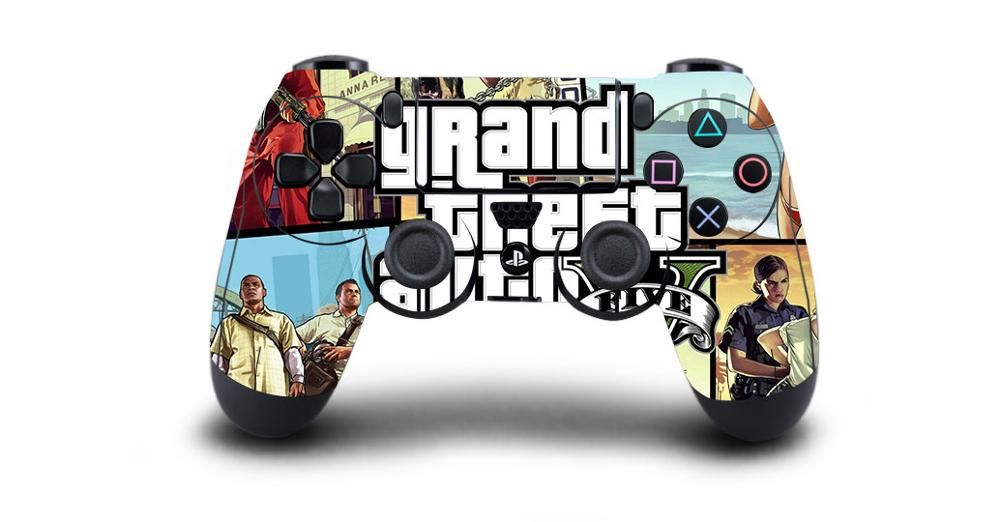 Grand Theft Auto V Gta 5 Protective Cover Sticker For Ps4 Controller Skin For Playstation 4 Pro Slim Decal Ps4 Skin Sticker Gta 5 Ps4 Skins Grand Theft Auto
