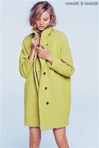 Buy Samsoe Green Car Coat from the Next UK online shop | Winter ...
